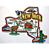 New York Jumbo State Map Fridge Magnet
