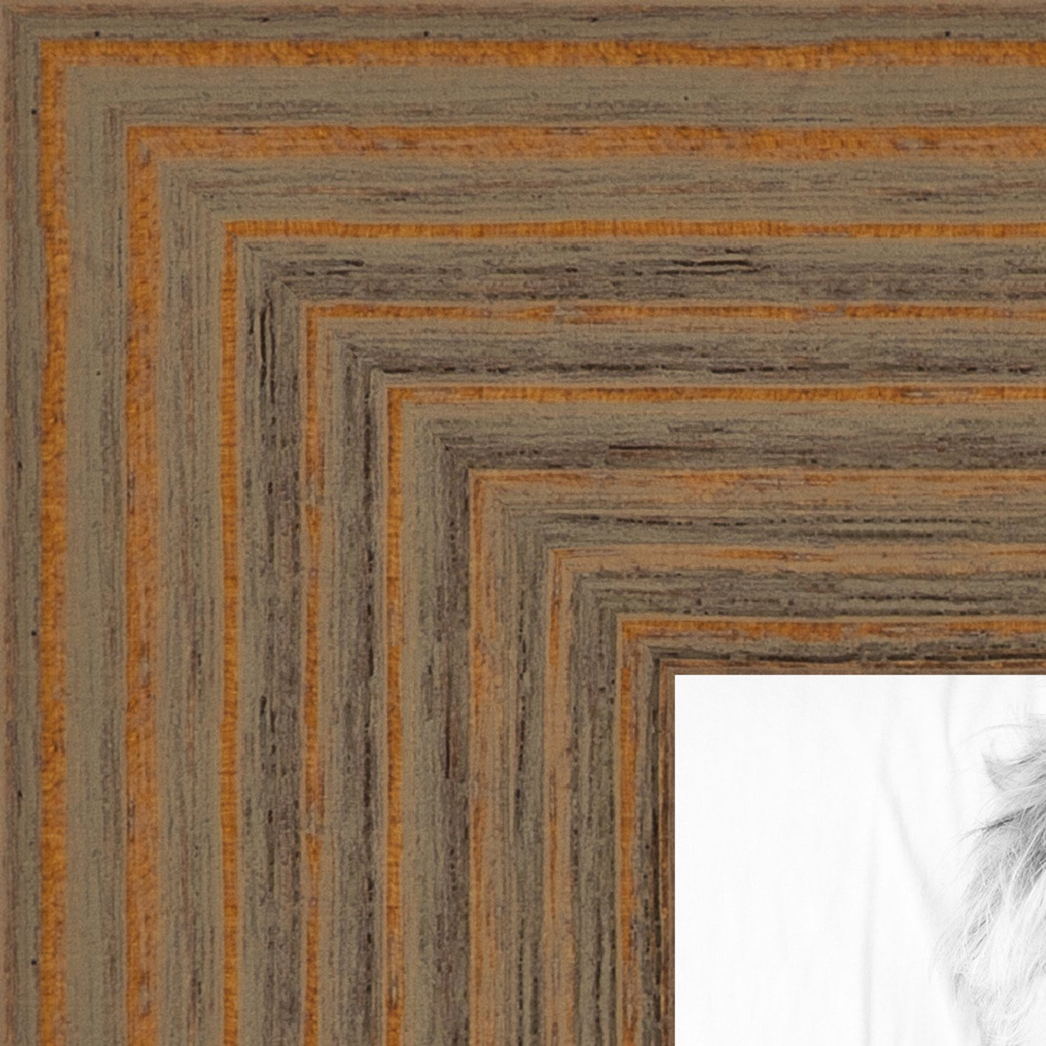 ArtToFrames 17x17 inch Maple Grain Distressed Frame Wood Picture Frame, 2WOM82223-104-17x17