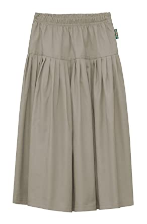 ae5f0bb7e1 Amazon.com: Baby'O Girl's Original BIZ Style Long Khaki Twill Skirt:  Clothing