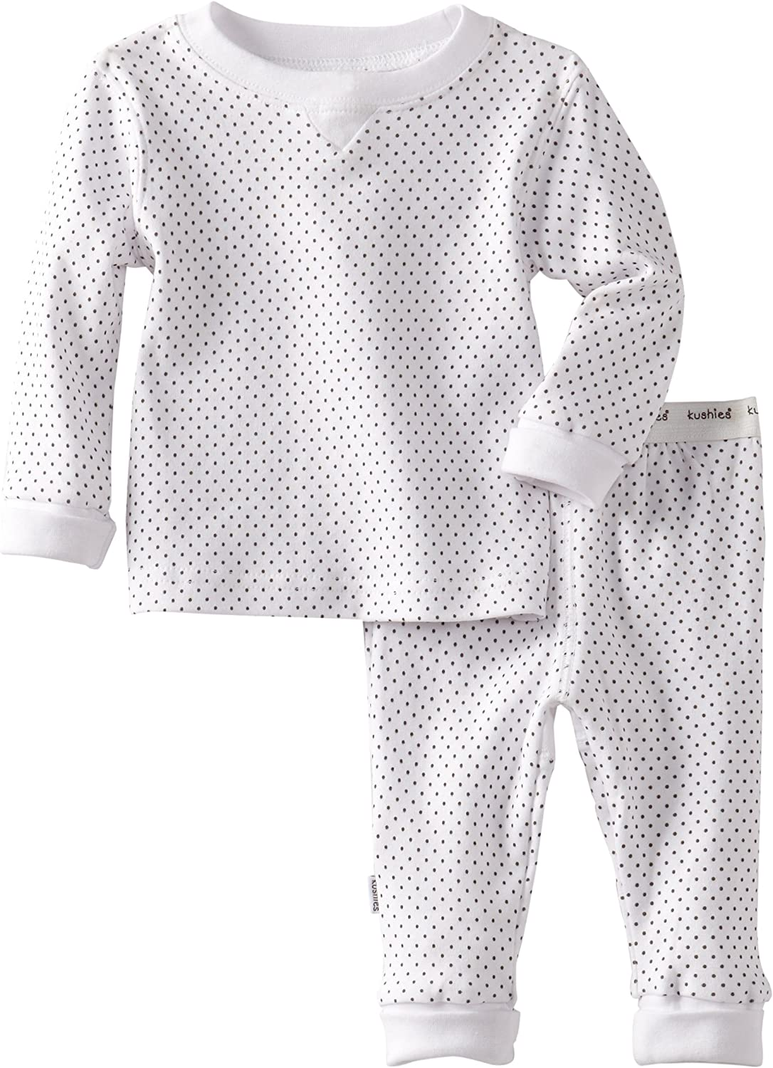 Green Stripe Kushies Baby Everyday Layette 2-Piece Set 12 Months 1 Pack
