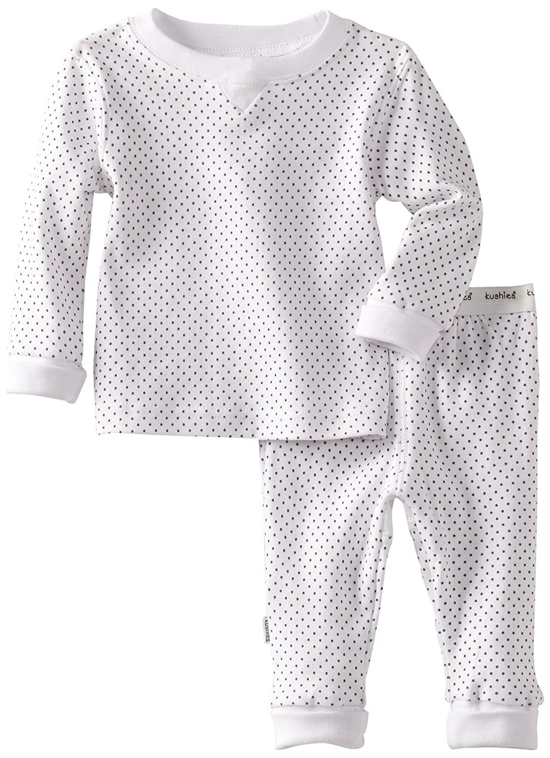 Kushies Baby Everyday Layette 2-Piece Set, White Dots, 24 Months, 1 Pack A471-White Dots-24 Months