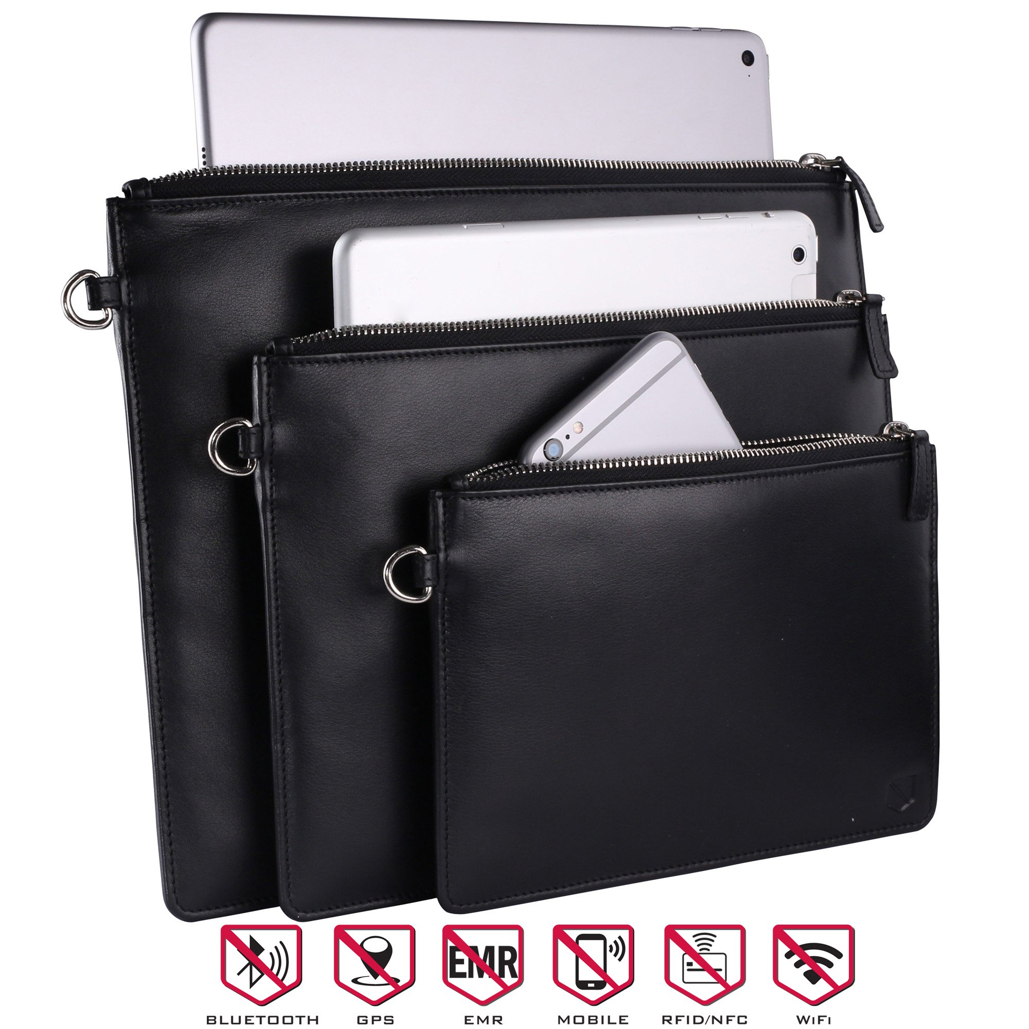 Silent Pocket XL Faraday Bag Cage Cell Phone Sleeve Pouch Carryall - Blocks all Wireless Signals
