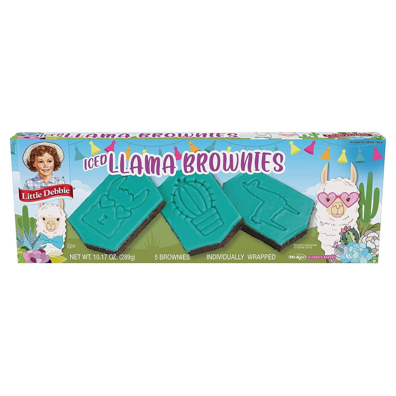 Little Debbie Llama Brownies, 5 Individually Wrapped Iced Brownies, 10.17 oz