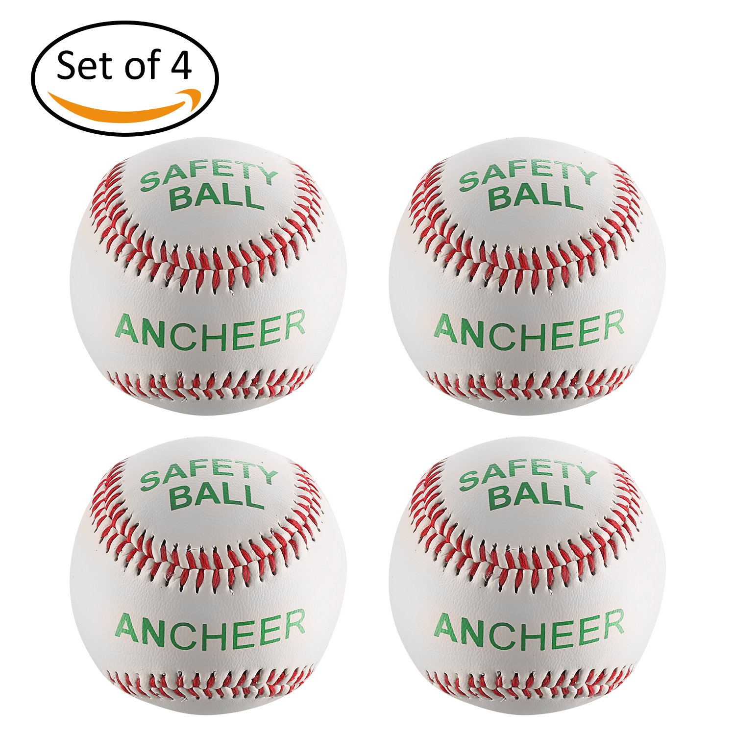 ANCHEER Baseball Bä lle Baseball Training Ball Anfä nger Softball Weiß , 9 Zoll 142.8 g PVC kautschukartige Kern Softball