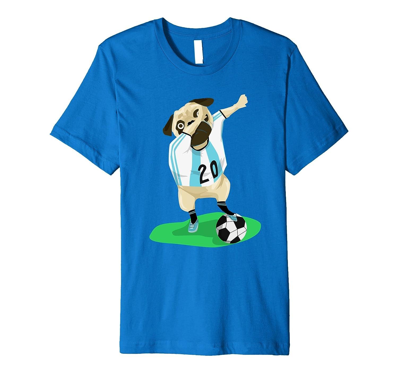 Dabbing Soccer Shirt, Pug Dabbing Soccer Ball Shirt-AZP