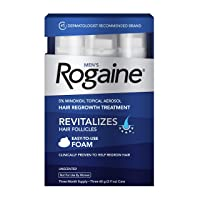 Deals on Rogaine 5% Minoxidil Foam for Hair Loss and Hair Regrowth