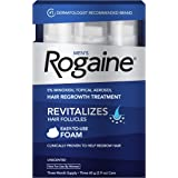 Men's Rogaine 5% Minoxidil Foam for Hair Loss and Hair Regrowth, Topical Treatment for Thinning Hair, 3-Month Supply,2…