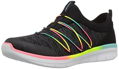 Skechers Damen Synergy 2.0-Simply Chic Slip on Sneaker, Schwarz (Black/Multicolour), 38 EU