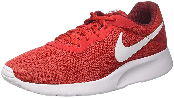 Nike Tanjun Herrenschuhe Rot mit weißem Streifen (University Red-white Team Red)