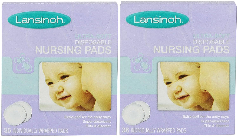 LAN20250EA - Disposable Nursing Pad, Ultra Soft (2 pack of 36 Count) Lansinoh Labs Inc