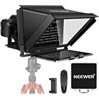 Neewer X12 Teleprompter for iPad Tablet Smartphone DSLR Cameras with Remote Control, APP Compatible with iOS/Android for…