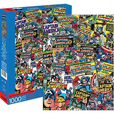 Aquarius Marvel Captain America Collage 1000 Pc Puzzle, Multicolor: Toys & Games