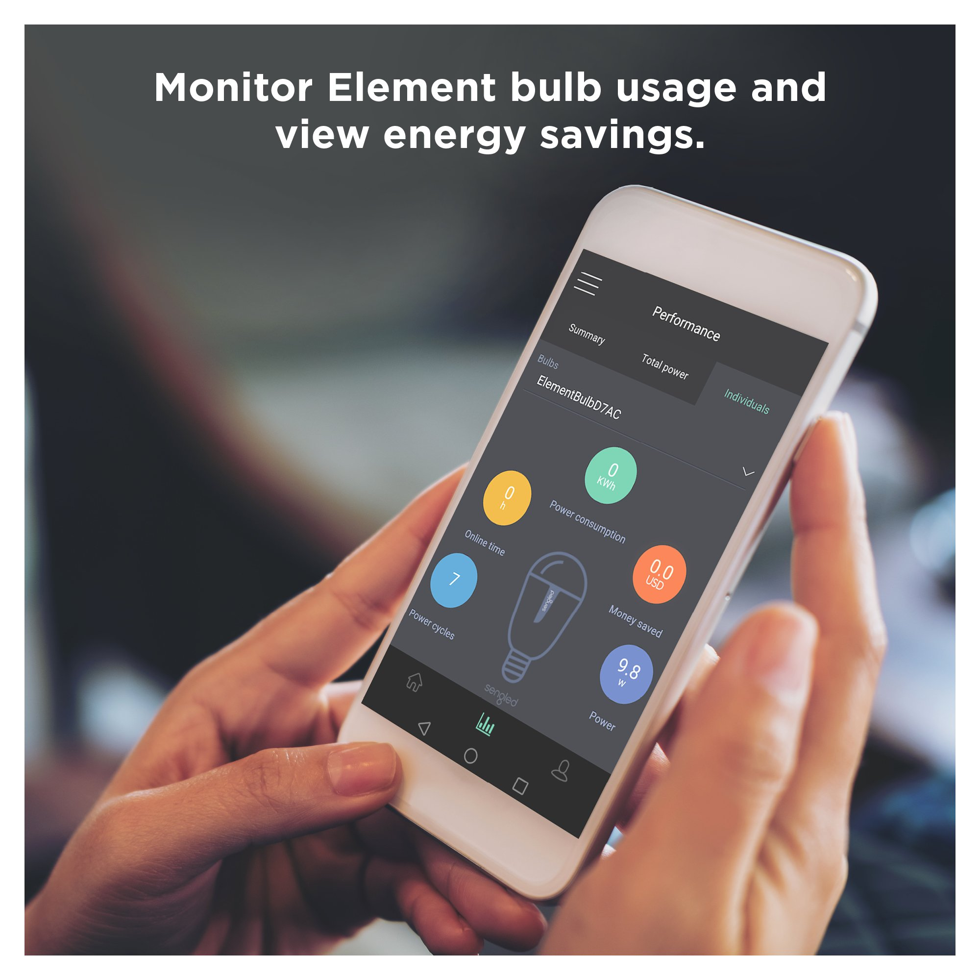 Sengled Element Plus Smart LED Light Bulb (Hub Required), A19 Dimmable LED Light Tunable White 2700-6500K 60W Equivalent, Works with Alexa/Echo Plus/SmartThings/Google Assistant, 1 Pack by Sengled (Image #8)