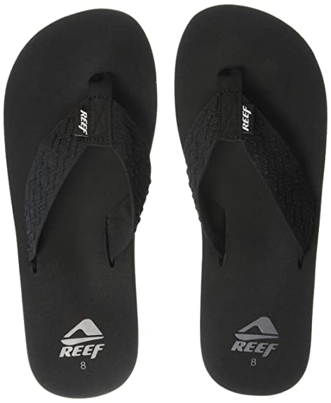 88bea5b9343c Reef Smoothy Men s Sandals Black Size  7 UK  Amazon.co.uk  Shoes   Bags