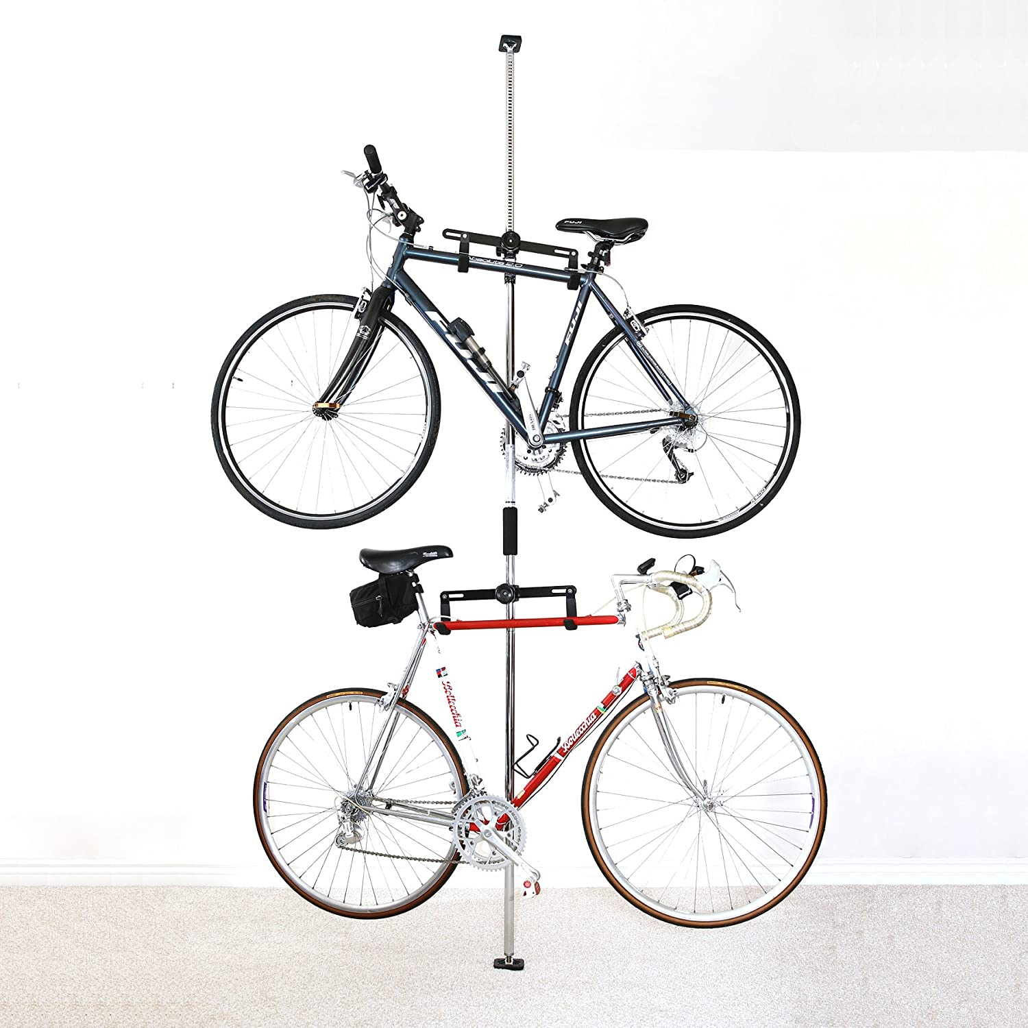 SPAREHAND Q-RAK II Floor-to-Ceiling Freestanding Adjustable Bike Rack Storage, Max Weight Limit 80 lbs,