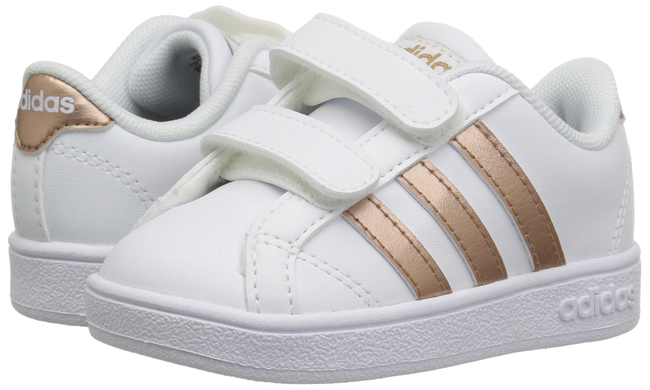 adidas Performance Baby Baseline, White/Copper Metallic/Black, 6K M US Toddler by adidas (Image #5)