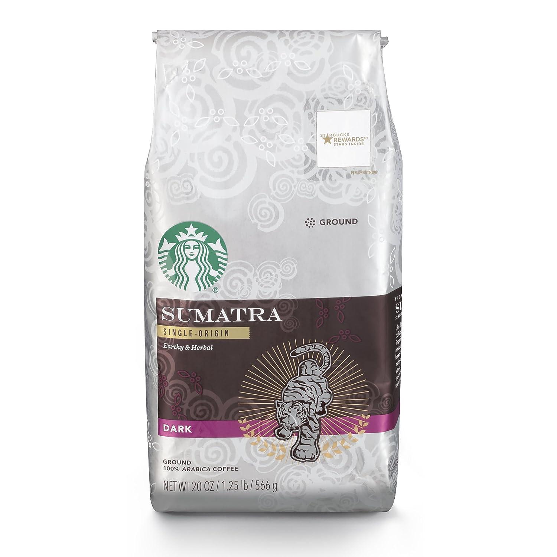 Starbucks Sumatra Dark Roast Ground Coffee, 20-Ounce Bag