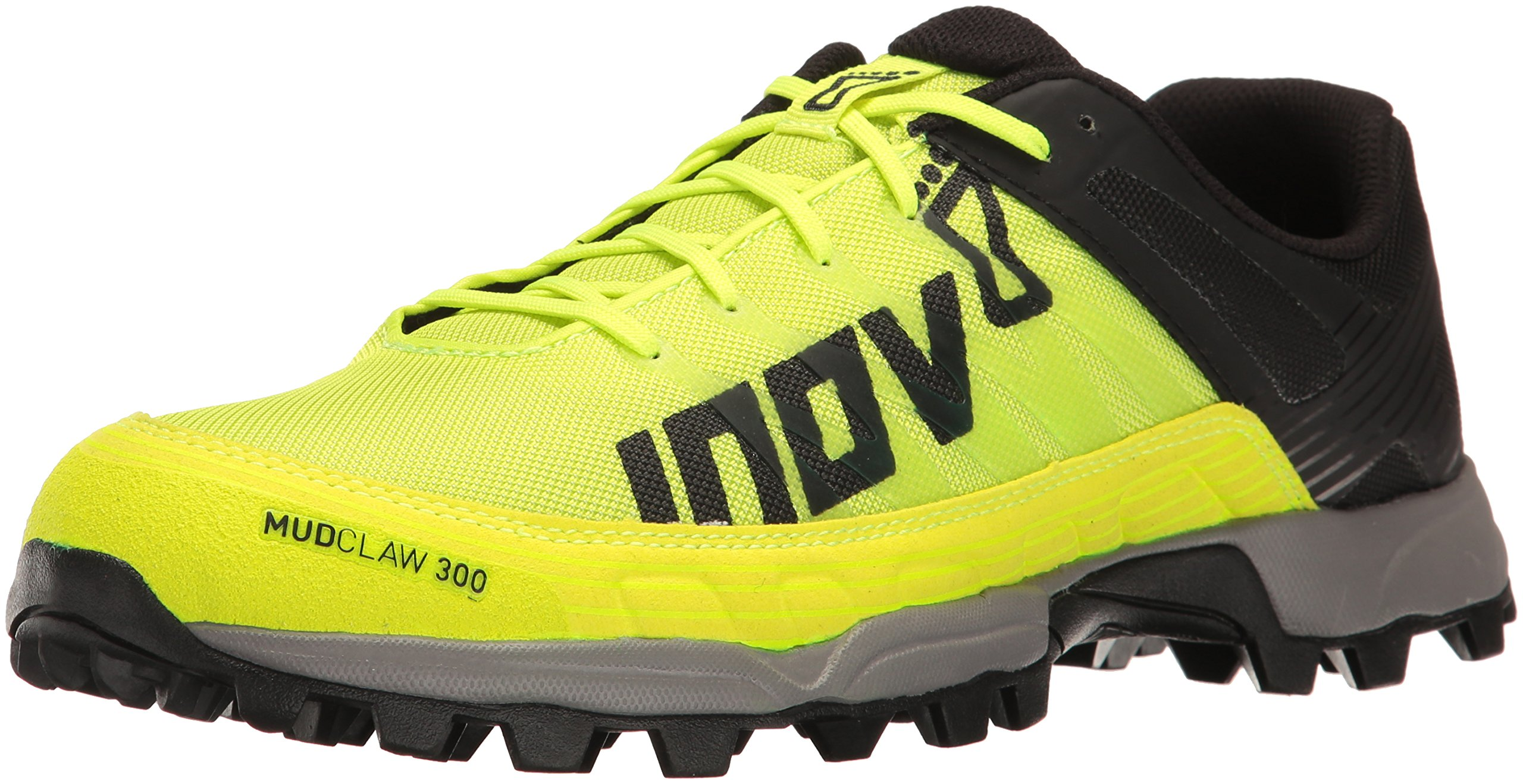 Inov-8 Men's Mudclaw 300 Trail Running Shoe, Neon Yellow/Black/Grey, 9 C US