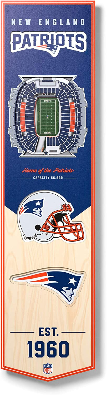 YouTheFan NFL 3D Stadium Banner, 8 x 32 Inches