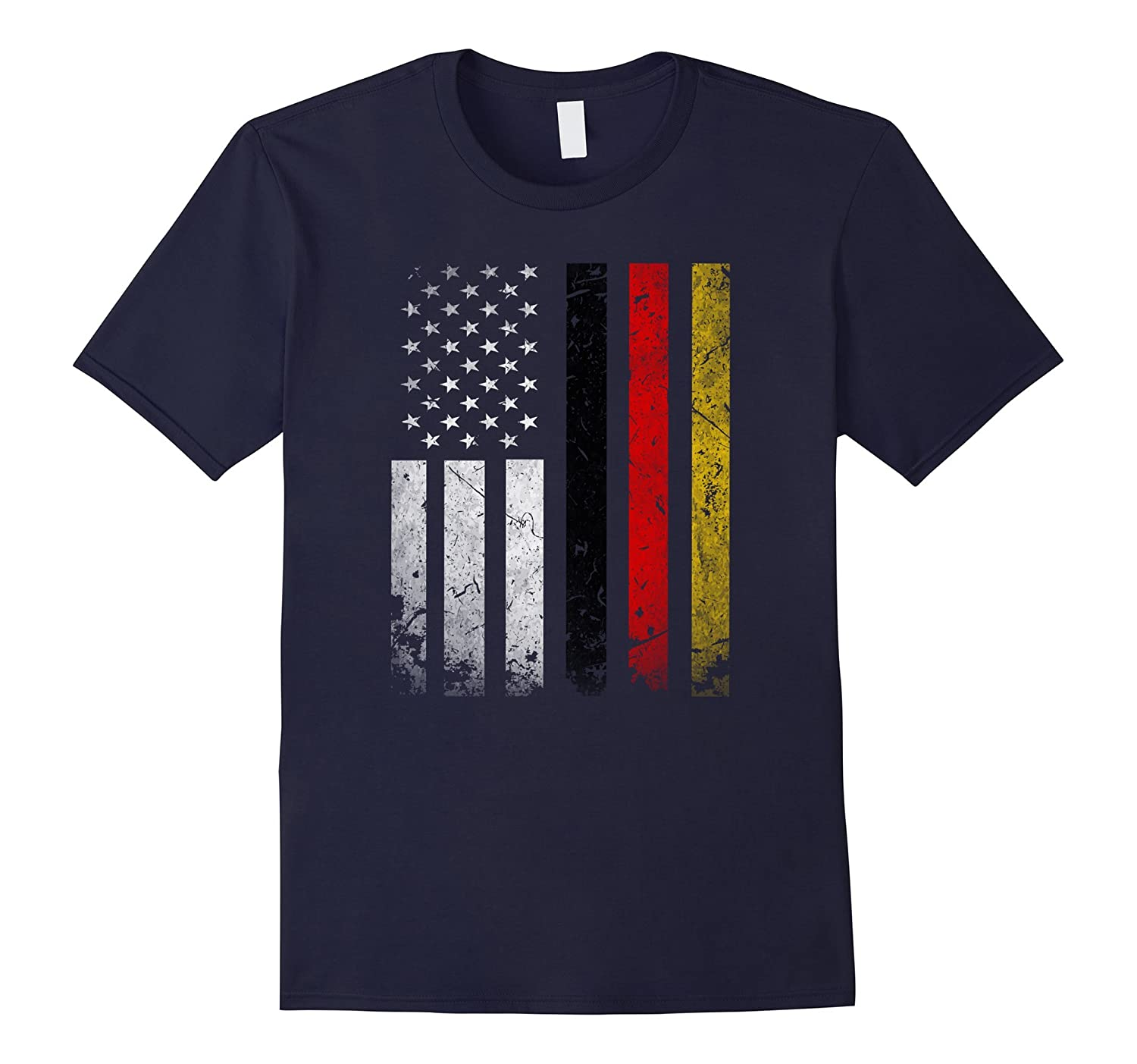 Germany Flag T-Shirt German America Flag Vintage Shirt-CD