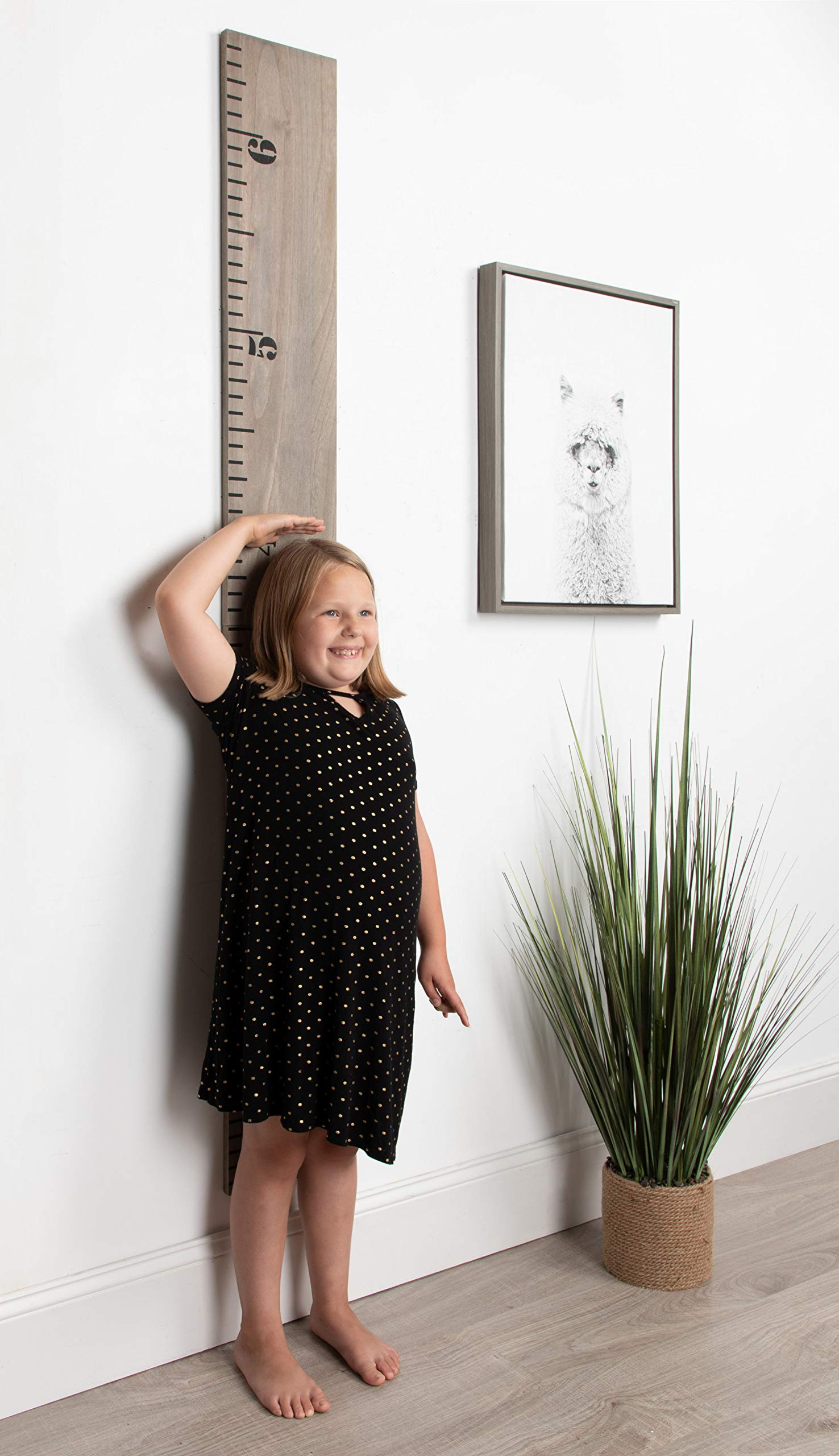 Kate and Laurel Growth Chart 6.5' Wood Wall Ruler, Gray by Kate and Laurel (Image #5)