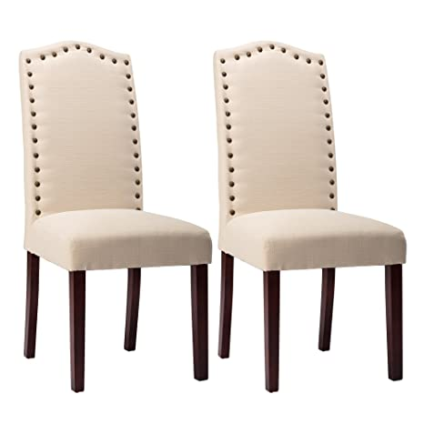 Amazon.com: NOBPEINT Juego de sillas tapizadas para comedor ...