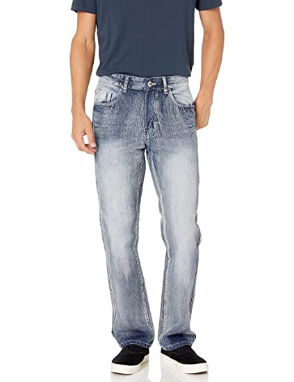 Southpole Mens 6181 Straight Fit Basic Streaky Denim Pants