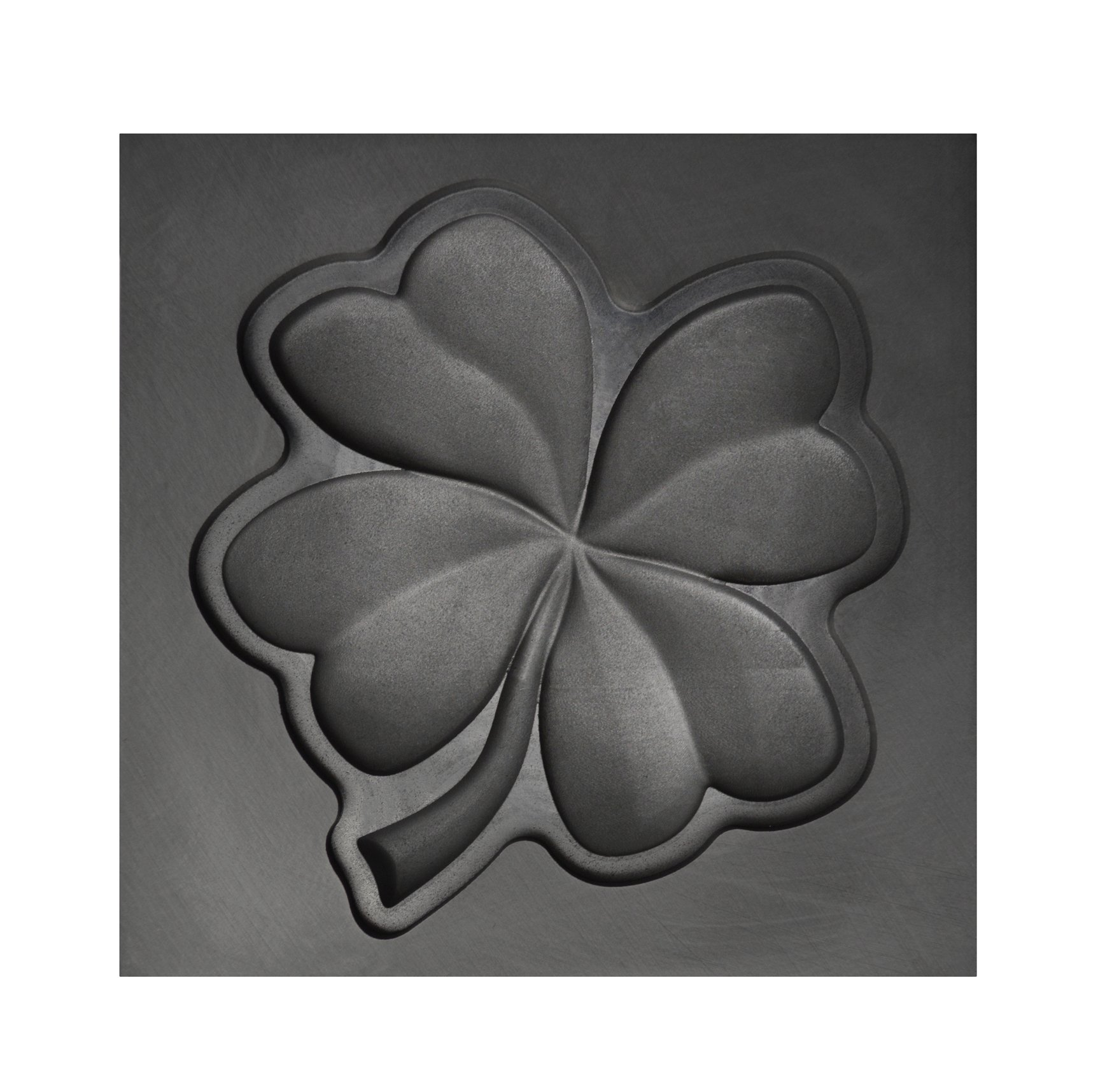 Large - Four Leaf Clover 3D Graphite Ingot Mold for Precious Metal Casting Gold Silver Copper Melting by PMC Supplies LLC