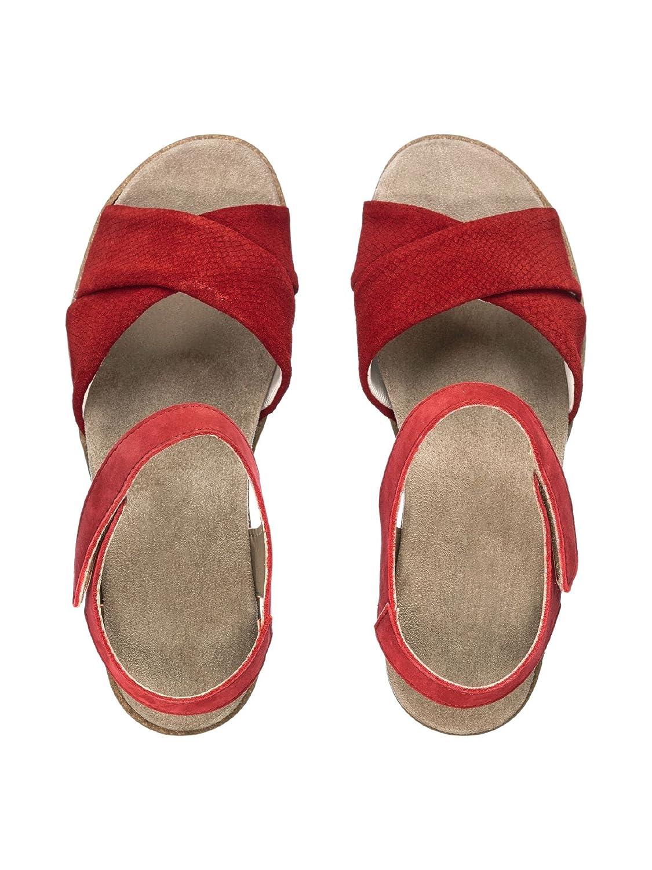 Avena Damen Rot Sandale Polstertraum, waschbares Wechselfußbett Rot Damen 1edafc