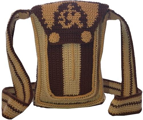 Mochila Wayuu - Bolso cruzados de algodón para mujer beige marrón/beige: Amazon.es: Zapatos y complementos