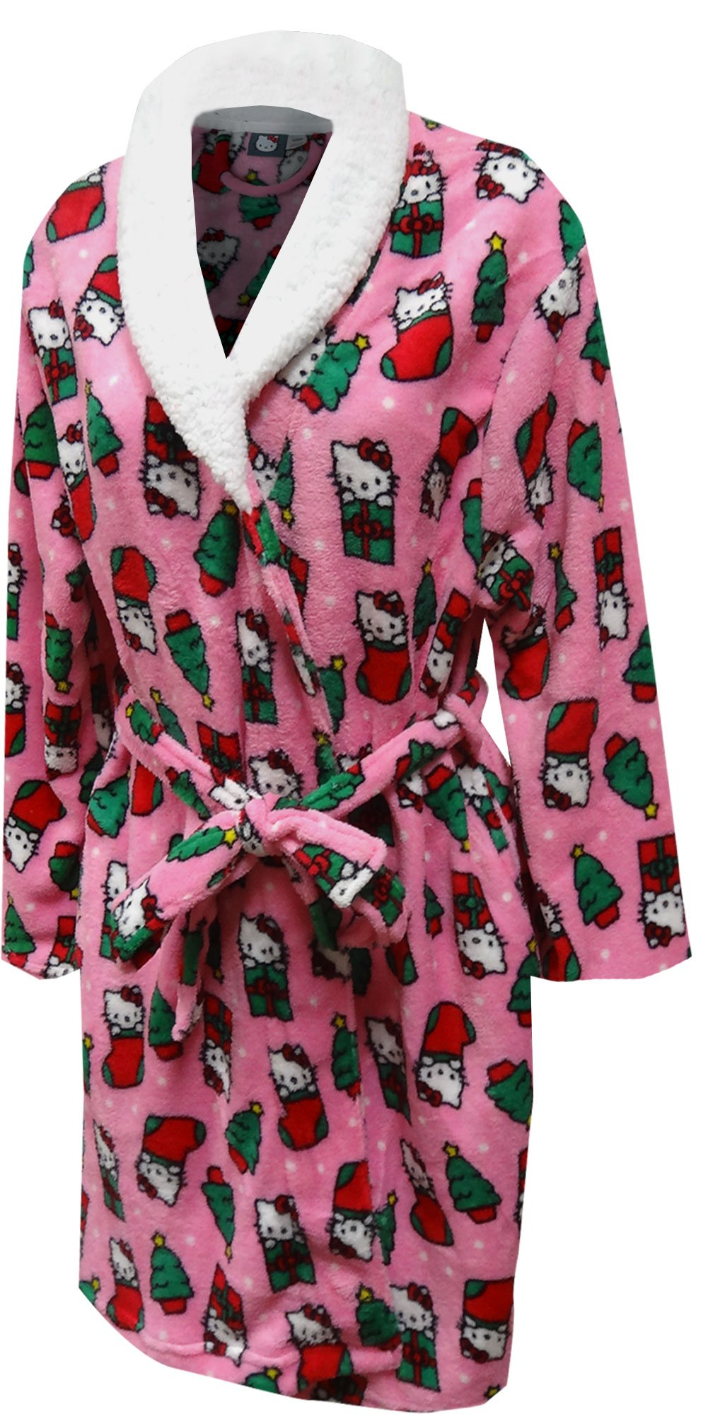 Hello Kitty Women's Printed Plush Robe, Pink, Large
