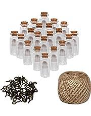 Mini Botellas de Vidrio (60 Piezas) 10ml Viales Miniatura 5cm x 2cm - Set