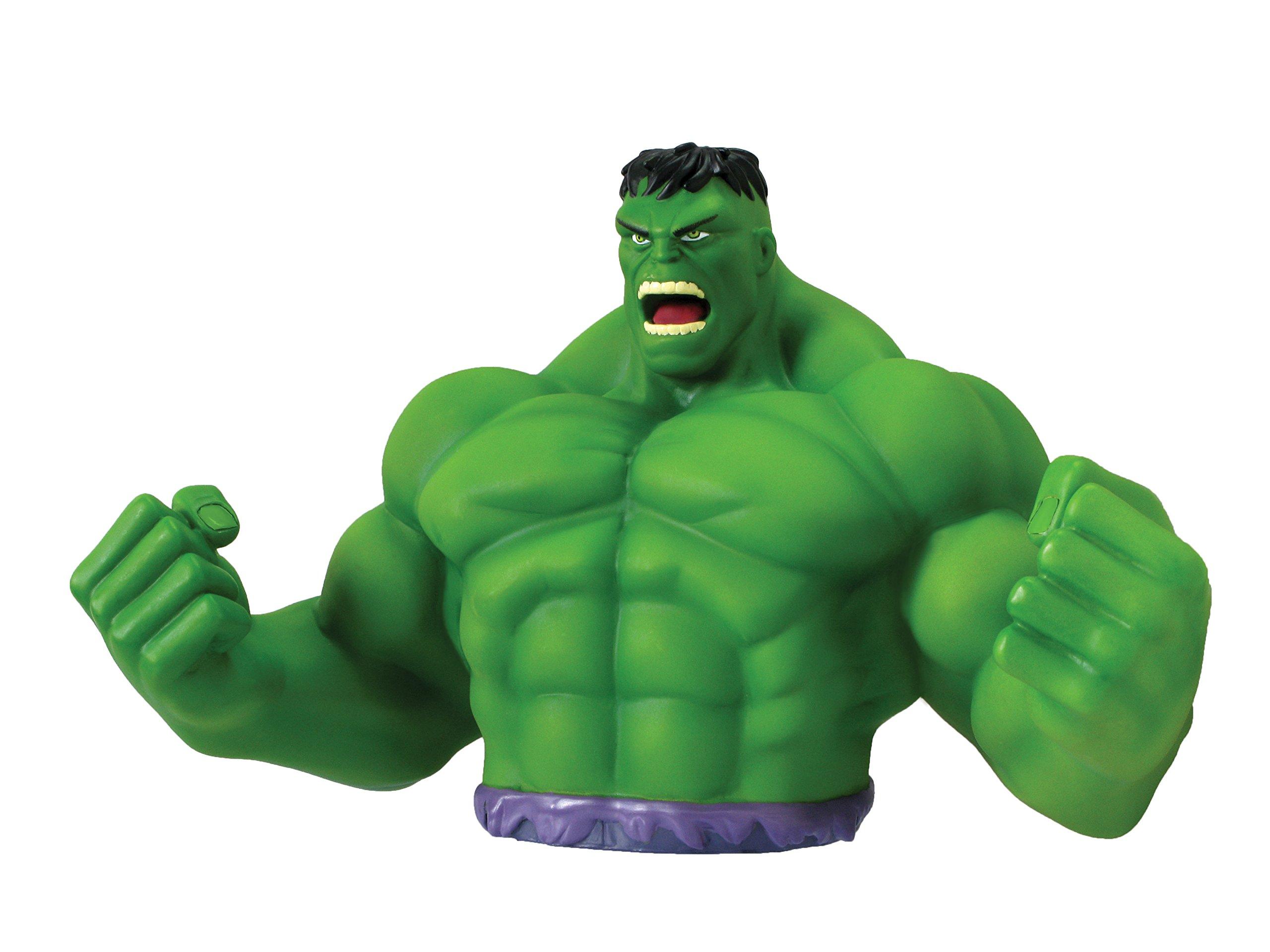 Marvel Hulk Bust Bank - Green Action Figure by Marvel