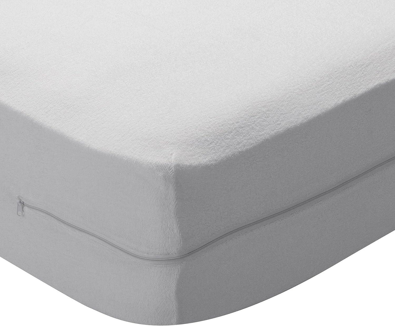 Pikolin Home - Funda de colchón rizo algodón, bielástica, 150x190/200cm-Cama 150 (Todas las medidas)