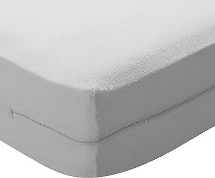 Pikolin Home - Funda de colchón rizo algodón, bielástica, 200x200cm-Cama 200 (Todas las medidas)