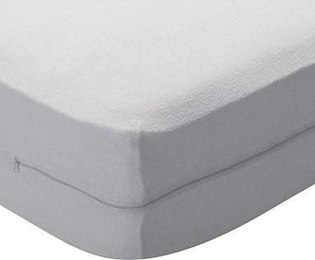 Pikolin Home - Funda de colchón rizo algodón, bielástica, 135x190/200cm-Cama 135(Todas las medidas)