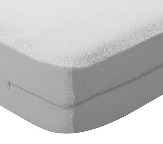 Pikolin Home - Funda de colchón rizo algodón, bielástica, 150x190 ...