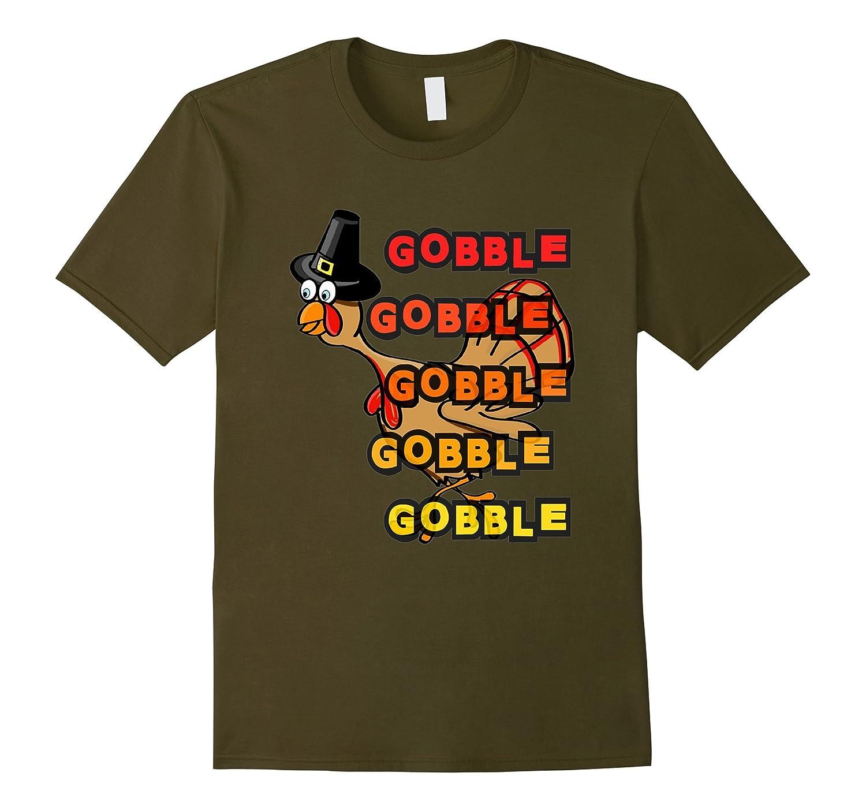 Thanksgiving Turkey Gobble Pilgrim T Shirt-TD