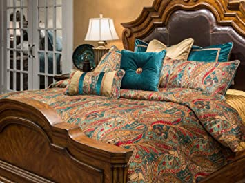 michael amini 10 piece seville comforter set king