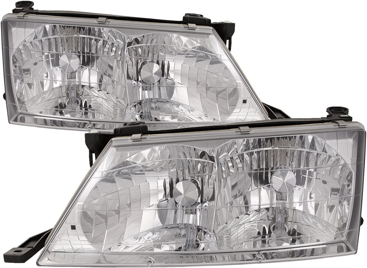 amazon com headlightsdepot chrome housing halogen headlights compatible with toyota avalon 1998 1999 includes left driver and right passenger side headlamps automotive headlightsdepot chrome housing halogen headlights compatible with toyota avalon 1998 1999 includes left driver and right passenger side headlamps