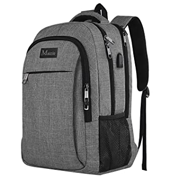 a65c15f658b2 MATEIN Travel Laptop Backpack, Business Backpack Work Bag with USB Charging  Port, Anti Theft Lightweight Laptop Bag, Water Resistant School Rucksack ...