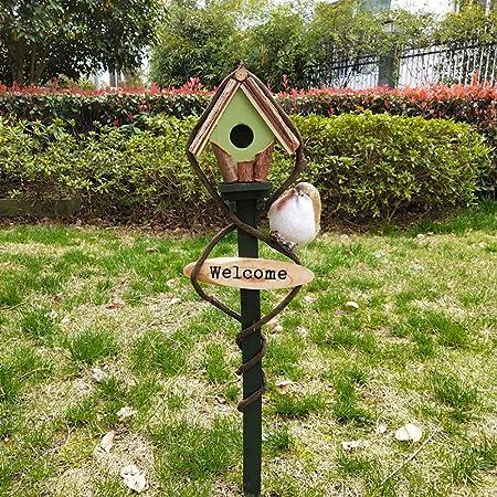 Jinzsnk Casas para pájaros La alimentación de Madera for pájaros del jardín Birdhouse Protegido de extensión portátil Independientes Alimentación Tabla estación de la casa del pájaro: Amazon.es: Hogar