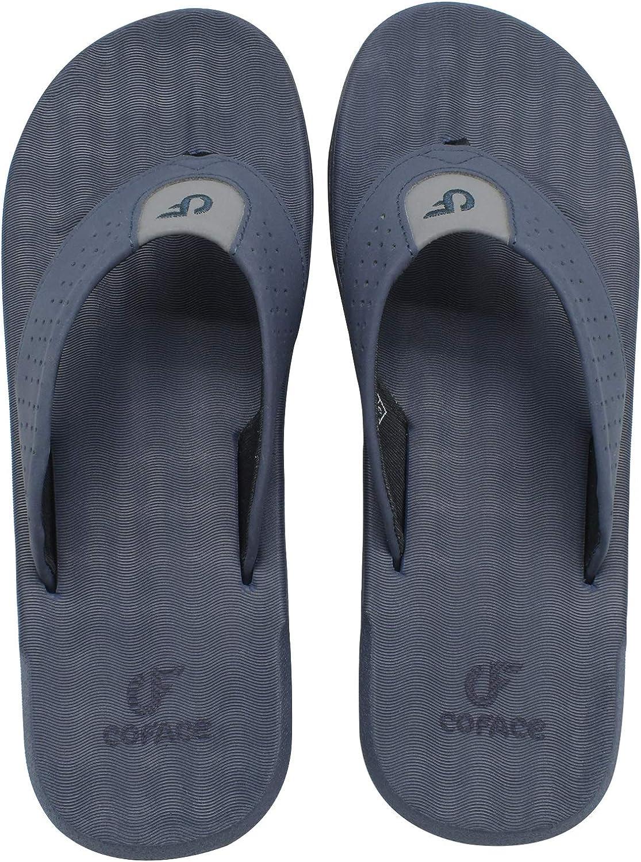 COFACE Mens Sandals Casual Yoga Mat Flat Thong Flip Flops for Men Athletic Soft Cushion Outdoor