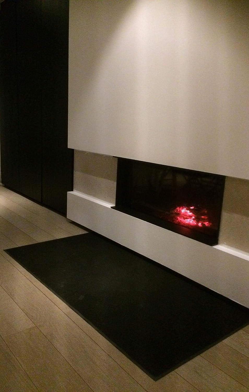 ACERTO MatBox Estera de protección de suelo para la zona de la parrilla, resistente al fuego, impermeable, antideslizante, alfombra de parrilla, ...