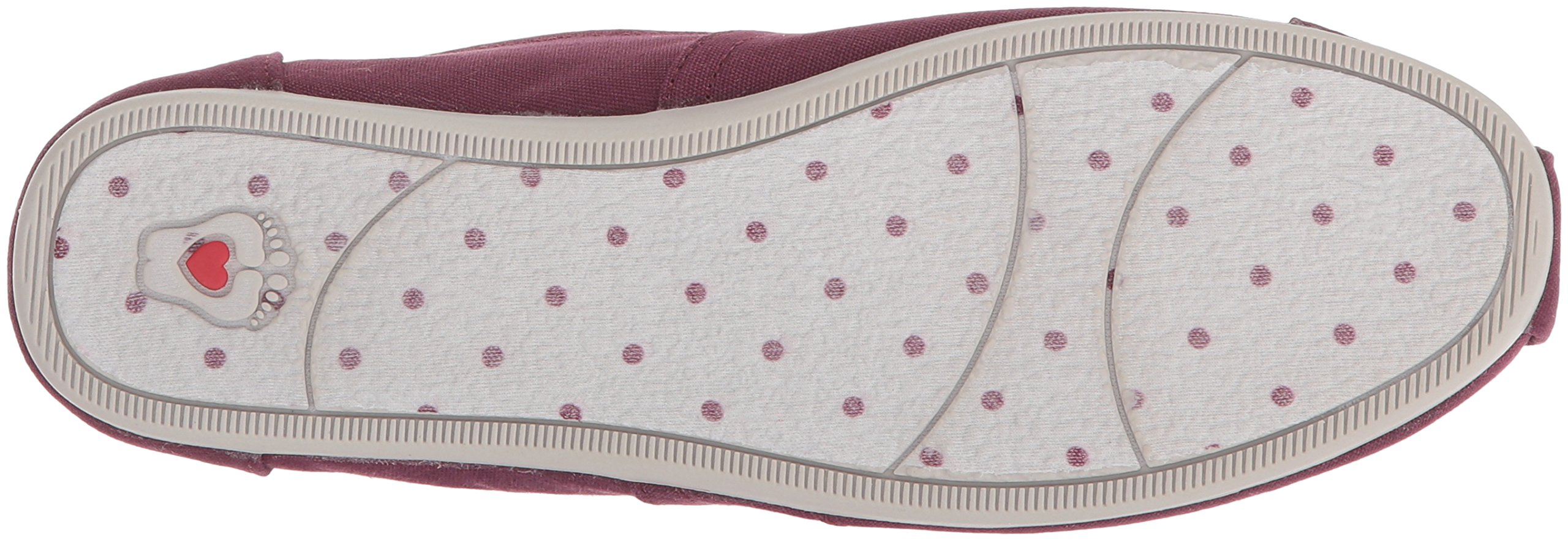 Skechers BOBS Women's Plush-Peace and Love Ballet Flat, Burgundy, 8 M US by Skechers (Image #3)