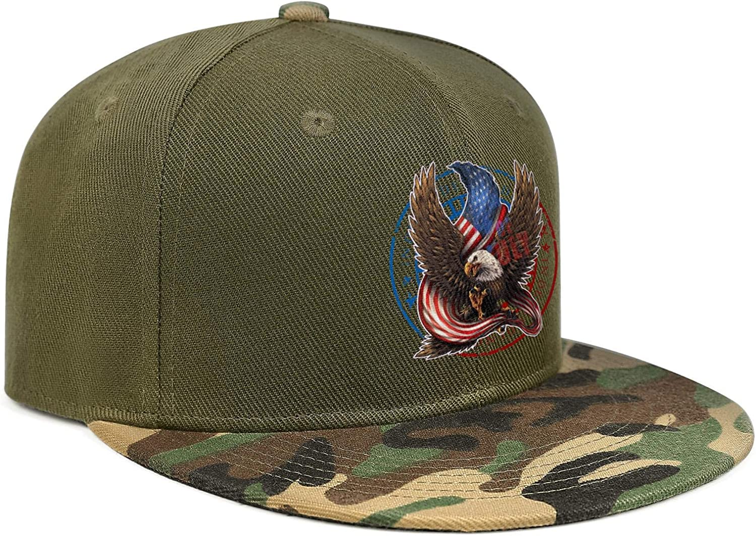 Unique 4th of July Eagle USA Flag Unisex Baseball Cap Outdoor Snapback Caps Adjustable Trucker Caps Dad-Hat