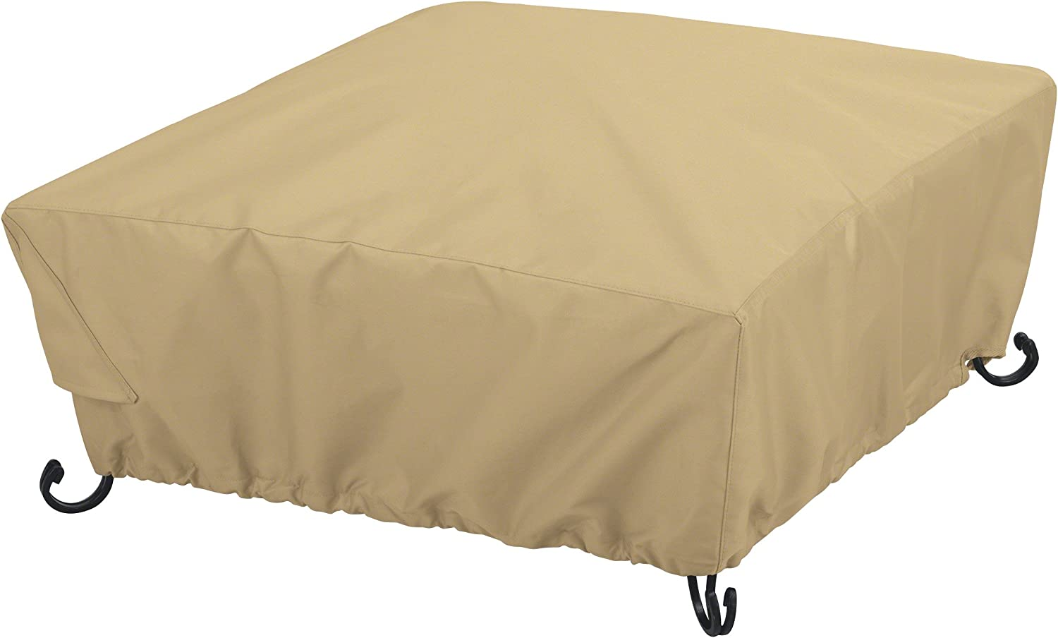 Classic Accessories Terrazzo Full Coverage Square Fire Pit Cover, 30""