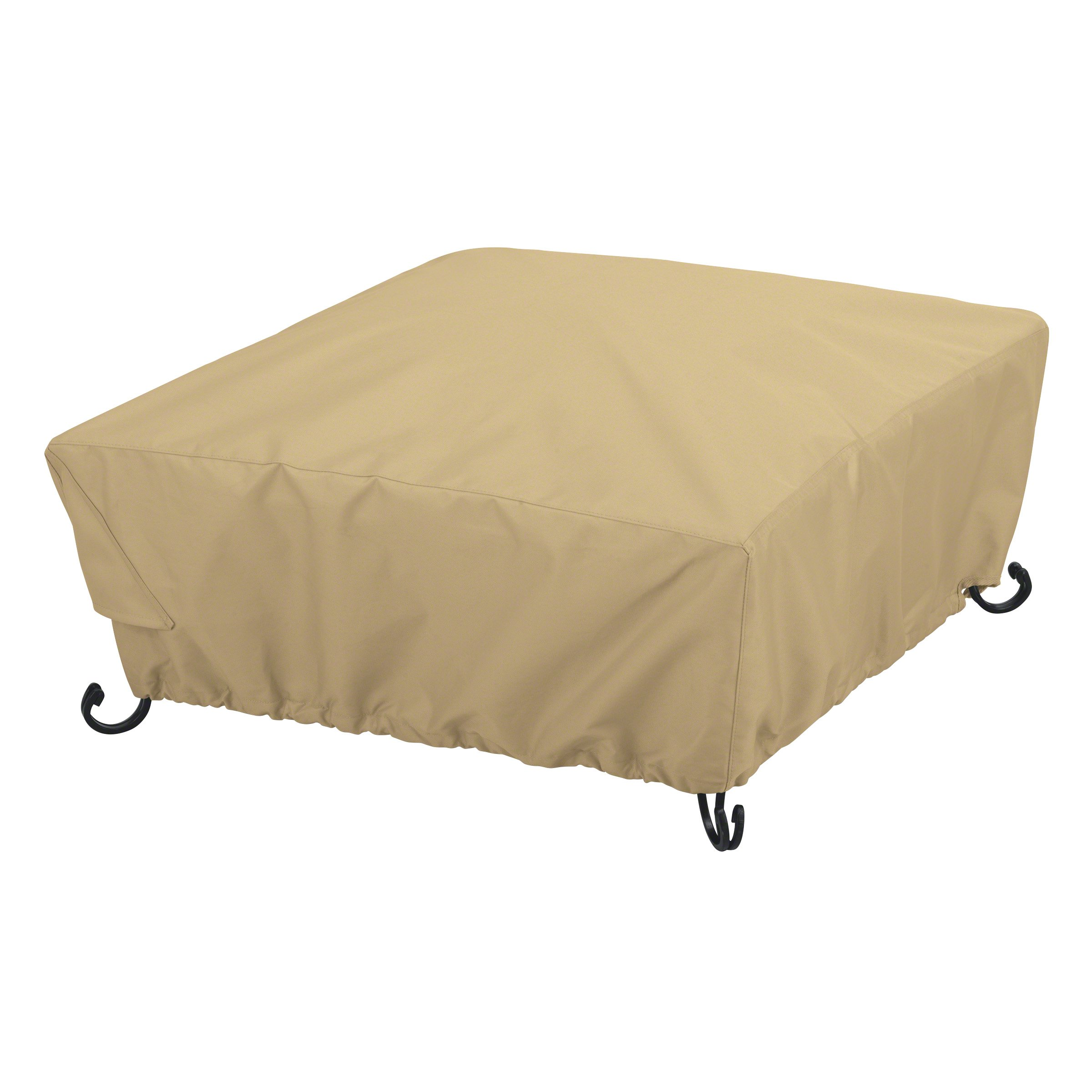 Classic Accessories Terrazzo Full Coverage Square Fire Pit Cover - All Weather Protection Outdoor Cover, Small, 30-Inch (59922-EC)