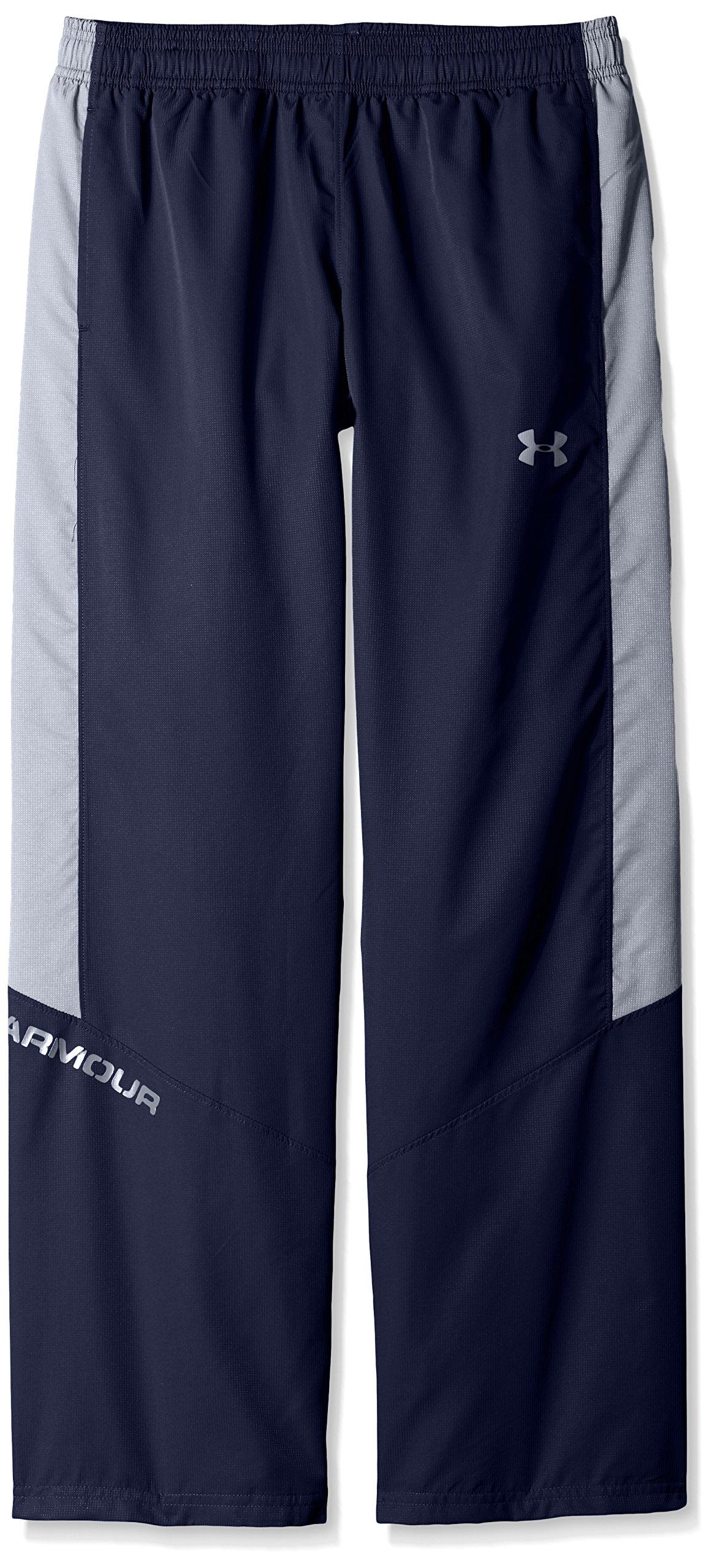 Under Armour Boys' Main Enforcer Woven Pants,Midnight Navy /Steel, Youth Small