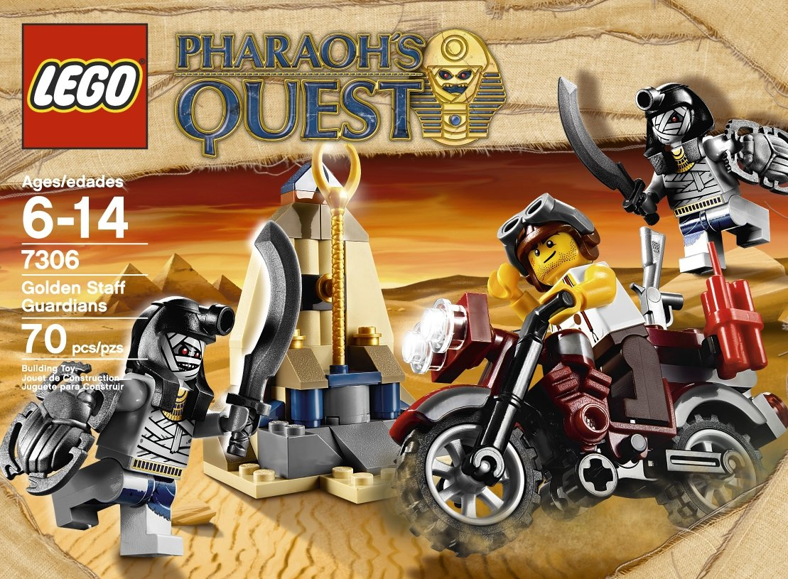 LEGO Pharaohs Quest Golden Staff Guardians 7306